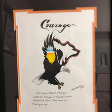 courage art frame