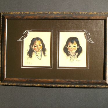 kids niddle art in frame