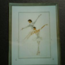 Needle art of ballet dancer